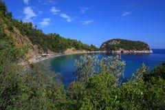 Stafilos海滩 免版税库存图片