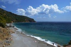 Stafylos Beach. Beautiful clean beach Stafylos island of Skopelos in Greece Royalty Free Stock Image