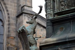 Stag on the Buccleuch Monument Stock Photos