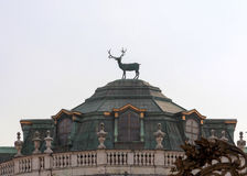 Stag detail on top of Stupinigi Royal Hunting Lodge Stock Images