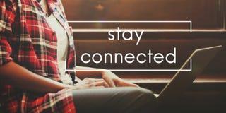 Stag förbindelseväxelverkande nätverk som delar socialt begrepp royaltyfria foton