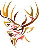 Stag head. Brush stroke isolated  illustrated deer head image Royalty Free Stock Photography