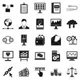 Stag icons set, simple style Royalty Free Stock Image