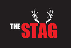 Stag night. A black and red stag night Royalty Free Stock Photo
