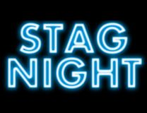 Stag night neon sign Royalty Free Stock Photos