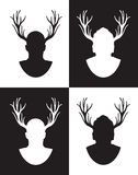 Stag night. A set of four stag night themed images Royalty Free Stock Image