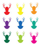 Stag night. A set of stag night themed images royalty free illustration