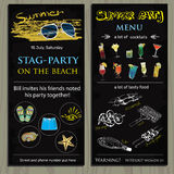 Stag-party invit on the beach. Holiday, vacation, invitation car Royalty Free Stock Photo