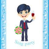 Stag party invitation Royalty Free Stock Photos