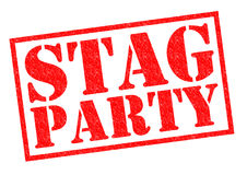 STAG PARTY. Red Rubber Stamp over a white background Royalty Free Stock Photos
