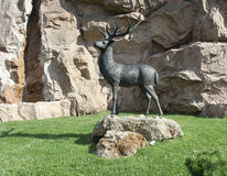 Stag statue Royalty Free Stock Photography