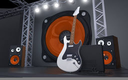 Stage. For appearances with a strong sound Royalty Free Stock Photos