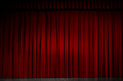 Stage. Red velvet theater curtain, theater stage stock photos