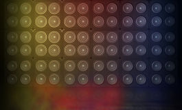 Stage. One 3d render of a stage with a wall of speakers Stock Images