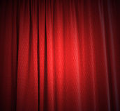 Stage. Red velvet stage theater curtains Royalty Free Stock Photography