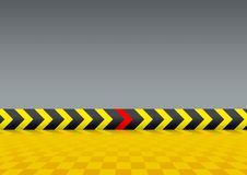 Stage. Next road, grey stage and for road arrows Royalty Free Stock Photo