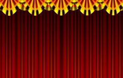 Stage. A beautiful stage curtain gold colour pillar and cloth & screen border generated by illustration royalty free illustration