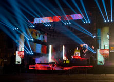 Stage. Consert stage prepared for event royalty free stock photography