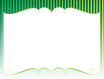 Stage. Green color stage theater curtains Royalty Free Stock Photo