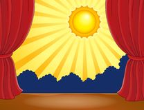 Stage with abstract sun 2 Royalty Free Stock Images