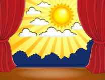 Stage with abstract sun 3 Royalty Free Stock Photos