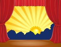 Stage with abstract sun 6 Royalty Free Stock Images