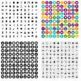 100 stage actor icons set vector variant. 100 stage actor icons set vector in 4 variant for any web design isolated on white Stock Photos