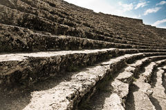 Stage of ancient ruined theatre in Turkey Royalty Free Stock Image