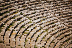 Stage of ancient ruined theatre in Turkey Royalty Free Stock Photography