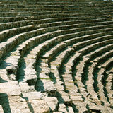 Stage of ancient ruined theatre in Turkey Stock Photography