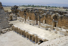 Stage of Antic Theatre in Hierapolis. Stock Photo