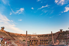 Stage in the Arena di Verona, Italy Royalty Free Stock Photo