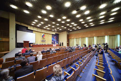 Stage and audience at 20th anniversary award ceremony Royalty Free Stock Photography