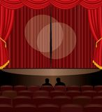 Stage audition. Illustration of the stage audition Stock Image