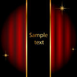 Stage background with sparkles royalty free illustration