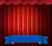 Stage with banner Royalty Free Stock Photos