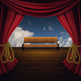 Stage with Bench Stock Image