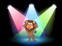 A stage with a big lion Stock Image