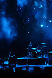 Stage in blue light Stock Photography