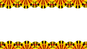 Stage border. A beautiful stage gold colour border generated by illustration with isolate royalty free illustration