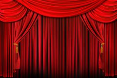Stage in Bright Red Dramatic Lighting Royalty Free Stock Photo
