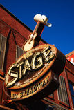 The Stage on Broadway Stock Photography