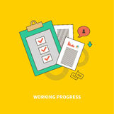 Stage of Business Process is Working Progress Stock Image