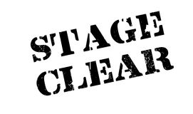 Stage Clear rubber stamp. Grunge design with dust scratches. Effects can be easily removed for a clean, crisp look. Color is easily changed Royalty Free Stock Image