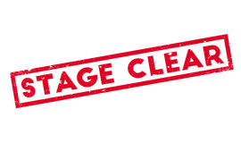 Stage Clear rubber stamp. Grunge design with dust scratches. Effects can be easily removed for a clean, crisp look. Color is easily changed Royalty Free Stock Images