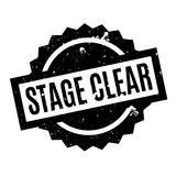 Stage Clear rubber stamp. Grunge design with dust scratches. Effects can be easily removed for a clean, crisp look. Color is easily changed Stock Photo