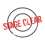 Stage Clear rubber stamp. Grunge design with dust scratches. Effects can be easily removed for a clean, crisp look. Color is easily changed Stock Image