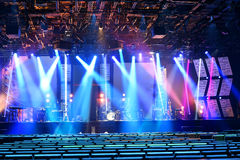 Stage With Colored Lighting Stock Images
