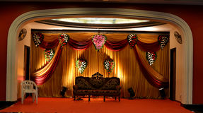 Stage with colourful curtains Stock Image