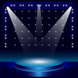 The stage for the concert as a vector illustration. Background to the creation of an artist posters. Royalty Free Stock Photography